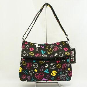 リズリサスタードール口折SD ブラック ショルダーバッグ 中学生 高校生 女子 LIZLISA ロゴ かわいい メイン サブバッグ ブランド