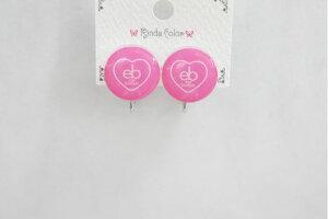 CEカラーボタン PK イヤリング かわいい ボタン型 おしゃれ ポップ 女子 小中高生 ガールズ イベント 春夏コーデ キュート 大人っぽ 夏 RindaColor リンダカラー