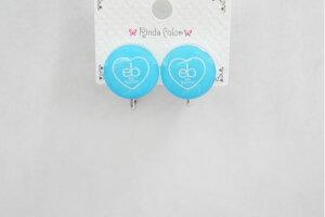 CEカラーボタン BL イヤリング かわいい ボタン型 おしゃれ ポップ 女子 小中高生 ガールズ イベント 春夏コーデ キュート 大人っぽ 夏 RindaColor リンダカラー