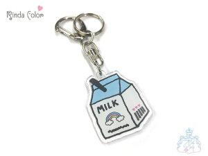 KHミルクパック BL キーホルダー チャーム バッグチャーム 小中高生 女の子 ミルク型 牛乳 カワイイ オシャレ 鍵 鞄 個性的 キーホルダー おしゃれ かわいい バッグチャーム