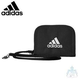 アディダス ネス ラウンド折り財布 ブラック 財布 二つ折り財布 男の子 女の子 スポーツブランド メンズ レディース ブランド adidas 57852