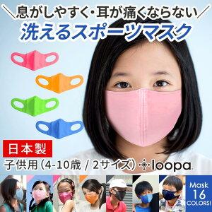 5万枚販売スポーツマスク日本製洗える抗菌・防臭・速乾Loopaシルキーファインスポーティマスク1枚(単品)ルーパUVカットストレッチUVスポーツジムヨガウォーキングランニング「OS」[ST-LO]001《予》