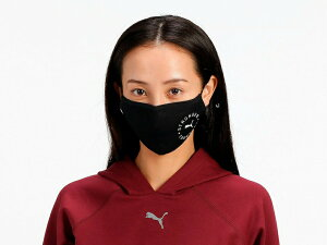 プーママスクPUMAフェイスマスク2枚セット2.0FaceMask2Pack2.021SS布マスク調節可能洗える黒感染予防飛沫防止スポーツマスクヨガスポーツブランド054116「SK」