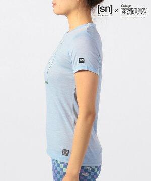 スーパーナチュラルヨガウェア[sn]super.naturalWプリントTee(スヌーピー)日本正規品WV-BigSnoopyTee21SSヨガトップスTシャツ半袖PEANUTS™SNWJ00005「YC」