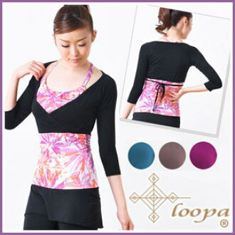 "[Loopa] Short bolero ★ yoga wear fitness lifestyleware town bolero tops outer UV measures haori レディースルーパ | 20928| ""The OS :"" 《 K 》"