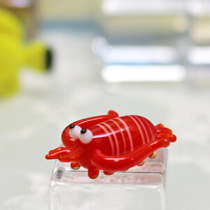 ガラス細工 イセエビ いせえび イセエビ えび 海老 エビ  海中 赤 ミニチュア ガラス ガラス細工 キャンドル ろうそく 手作り 材料 キット おしゃれ かわいい 置物 雑貨 小物 gla