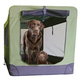 ソフトソフクレート XXXLサイズ(モスグリーン)大型犬(50kg)まで使用可能【常時在庫有り】 ケージ キャリーバッグ ゲージ【当日出荷受付 16:00(土日祝は15:00)まで】
