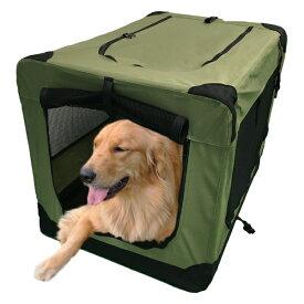 ソフトソフクレートXL(モスグリーン)大型犬(31.8kg)まで使用可能【常時在庫有り】ケージ キャリーバッグ ゲージ!!【当日出荷受付 16:00(土日祝は15:00)まで】