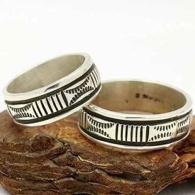 インディアンジュエリー ナバホ リング 指輪正確なスタンプが大人気!ブルース・モーガン作のシルバーリング! 【制作者】Bruce Morgan メンズ レディースどちらにもおススメ【nri-0356】