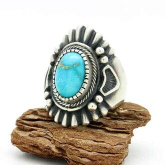 納瓦霍純銀戒指環 H Begay 哈利 (哈利 Begay) 19.5 的坎德拉裡亞 (坎德拉裡亞) 銀戒指