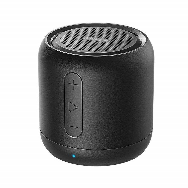 Anker SoundCore mini コンパクト Bluetoothスピーカー 【15時間連続再生 内蔵マイク搭載 micro SDカード FMラジオ対応】 (ブラック) | アンカー スピーカー サウンドコア ブルートゥース スピーカー FM ラジオ 黒 くろ クロ black anchor スピーカー SPEAKER