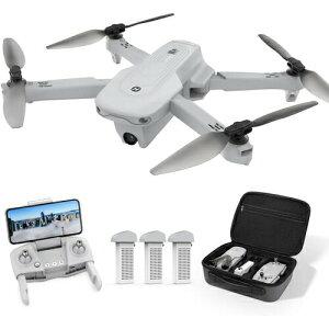 Holy Stone ドローン GPS搭載 折り畳み式 4Kカメラ付き フライト時間66分 バッテリー3個 収納ケース付き 90°調整可能 リターンモード フォローミーモード オプティカルフロー 高度維持 ヘッドレ