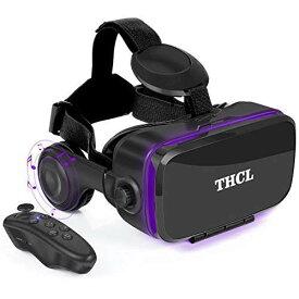 VR ゴーグル VRヘッドセット THCL 「2020新型」 アンチブルーレンズ 3D ゲーム 映画 動画 4.7〜6.2インチの iPhone Android などのスマホ対応 ワンクリック受話 Bluetoothリモコン&日本語取扱説明書付属