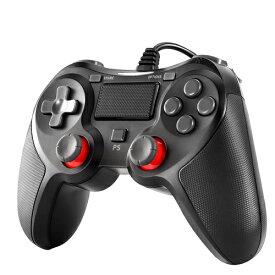 PS4 コントローラー Blitzl PC コントローラー PS4 Pro/Slim PS3 Win7/8/10 対応 有線 ゲームパッド 人体工学 二重振動 B084ZJG988