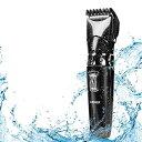 電動バリカン 2019年最新版 ヘアカッター ヒゲトリマー IPX7防水 水洗い可 充電式 10段階調節可能 アタッチメント付き 4-30mm対応 散髪・子供・家庭・業務用 プロ仕様 日本語説明書付き(ブラック)