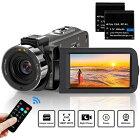 ビデオカメラ ACTITOP デジタルビデオカメラ HDビデオカメラ 3600万画素 HD1080P 16倍デジタルズーム 暗視機能 予備バッテリーあり リモコン付属 SDカード(最大128GB) 日本語システム B08LCWKHFD