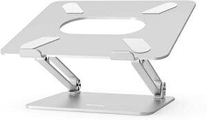 BoYata ノートパソコンスタンド タブレットスタンド PCスタンド 高さ/角度調整可能 姿勢改善 腰痛/猫背解消 折りたたみ式 ノートPCスタンド 滑り止め アルミ合金製 Macbook/Macbook Air/Macbook Pro/iPad/