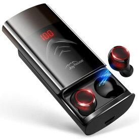 【2019革新デザイン 260時間再生 最新Bluetooth5.0+EDR搭載】 Bluetooth イヤホン LEDディスプレイ Hi-Fi 高音質 3Dステレオサウンド 6000mAh大容量充電ケース付き 応/iPhone/iPad/Android対応