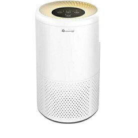 Dreamegg 空気清浄機 花粉 花粉症対策 除菌 消臭 空気清浄器 静音 暖色のナイトライト タイマー付き 4段風量設定 PM2.5 微粒子99.9%除去可 省エネ HEPA フィルター CF-8010(花粉・集塵重視)ホワイト