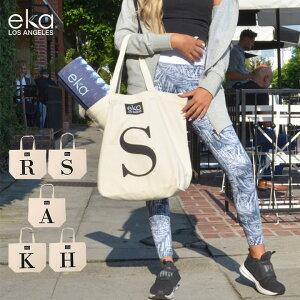 eka イニシャル バッグ ヨガマット ケース エコバッグ マットバッグ 収納 カバン ヨガバッグ ピラティス エクササイズ ヨガマット ケース 持ち運び 送料無料