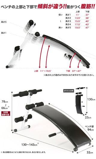 【送料無料】腹筋ベンチシットアップベンチアーチカーブ型器具割るトレーニングマシン背筋腕立て筋トレ【RCP】