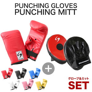 パンチンググローブ パンチングミット 左右セット 送料無料 ボクシング 打撃 練習 空手 格闘技 キックボクシングスポーツ・アウトドア 武道 グローブ