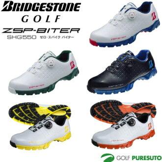 普利司通高尔夫球零钉鞋经由三高尔夫球鞋人SHG550[普利司通ZSP-BITER]