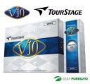 【即納!】ブリヂストン ツアーステージ V10 ゴルフボール 1ダース(12球入)★2012年モデル★ [BRIDGESTONE TOUR S…