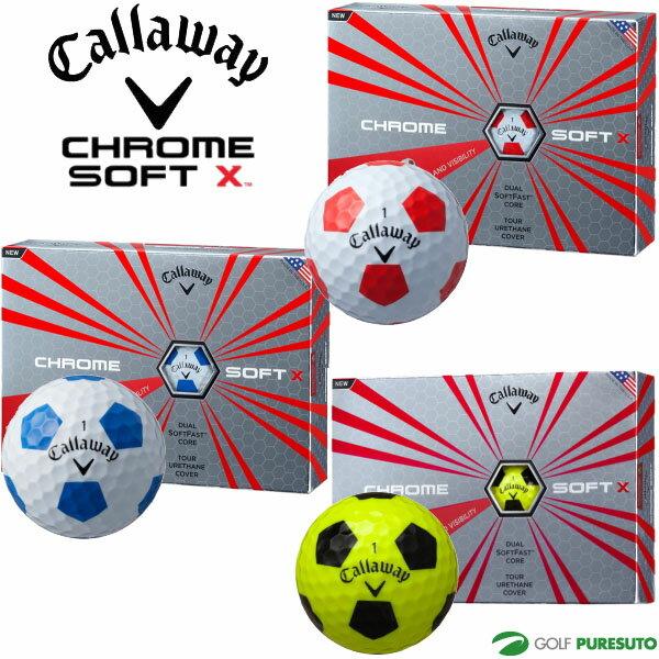 【即納!】【日本仕様】キャロウェイ クロムソフト X トゥルービス ゴルフボール 1ダース(12球入)[Callaway CHROME SOFT X TRUVIS]【あす楽対応】