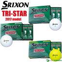 ダンロップ スリクソン TRI-STAR ゴルフボール ●2017年モデル● 1ダース(12球入)[DUNLOP SRIXON トライスター]