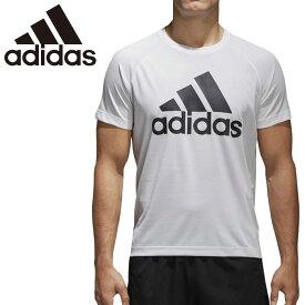 【P3倍★最大2000円OFFクーポン】アディダス adidas D2M トレーニング ビッグロゴ Tシャツ 半袖 メンズ BVA79 シンプル ホワイト 白 部活 部屋着 ジム