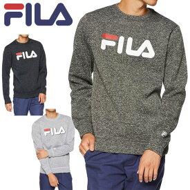 \★先着クーポン配布中★/フィラ FILA フリース ロングスリーブ Tシャツ 長袖 448-362 メンズ 防寒 UVカット ビッグロゴ