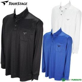 ブリヂストンゴルフ ツアーステージ 長袖ボタンダウンポロシャツ メンズ KTM02F ゴルフウェア