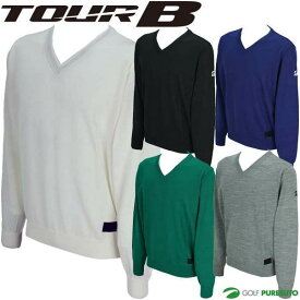 【★最大3000円OFFクーポン★】ブリヂストンゴルフ TOUR B 長袖Vネックセーター メンズ IGM02B