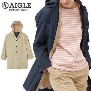【レディース】エーグル AIGLE 2in1 ステンカラー フーデット コート ZBF061J 透湿防水