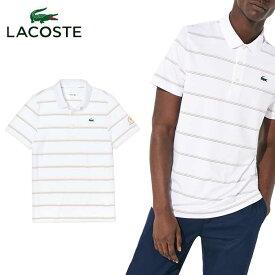 ラコステ LACOSTE PRESIDENTS CUP トリプルカラーピンボーダーポロ DH0436L 半袖 ポロシャツ メンズ