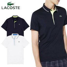 \★先着クーポン配布中★/ラコステ 下前立て切り替えウルトラドライゴルフポロ DH0441L 半袖 ゴルフウェア ポロシャツ UVカット メンズ