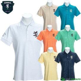 アドミラルゴルフ リーフエンボス 半袖ポロシャツ メンズ ADMA046