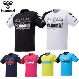 ヒュンメル hummel ハンドボール Tシャツ HAP4134 半袖 トレーニングウェア メンズ 吸汗速乾