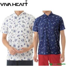 ビバハート カーニバル柄 半袖ポロシャツ メンズ 011-22443