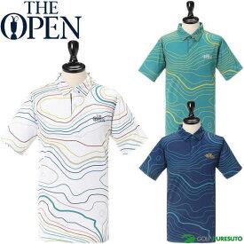THE OPEN コースイラスト 半袖ポロシャツ メンズ 171-22443