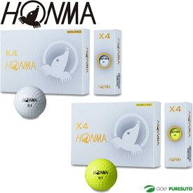 本間ゴルフ HONMA X4ボール ゴルフボール 1ダース BT1906