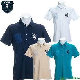 アドミラルゴルフ 半袖ポロシャツ メンズ ADMA054 パーツカモプリント ゴルフウェア
