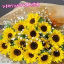 【送料無料】ひまわり  花束 送料無料!元気になる花・プレミアひまわり  夏のギフトに最適♪