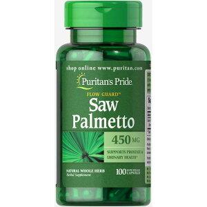 ピューリタンズプライド ソーパルメット 450mg 100錠 ソーパルメット Saw Palmetto Extract テストステロンのレベルを上げ、前立腺の健康を改善し、炎症を減らし、脱毛を防ぎ、尿路機能を高めます