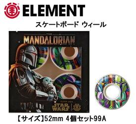 人気!ELEMENT x STARWARS エレメント スターウォーズWHEEL (MANDALORIAN MANDO CARD) (52mm)スケートボード SKATEBOARD ウィール 正規品
