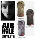 19 AIRHOLE エアーホール DRYLITE (BALACRAVA)(BLACK) 即納商品 正規品 スノーボード スノボ SNOWBORD フェイスマスク FACE MASK ネッ…
