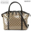 093d842d614796 Gucci GUCCI GG crystal 2way Thoth shoulder bag leather brown 341503 200047