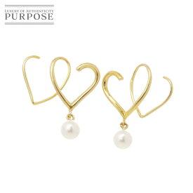 【新品仕上げ】 ベビーパール K18 ピアス 18金 イエローゴールド 真珠 【中古】