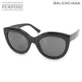 【未使用 展示品】 バレンシアガ BALENCIAGA サングラス ロゴ 総柄 ブラック グレー BA133 【中古】